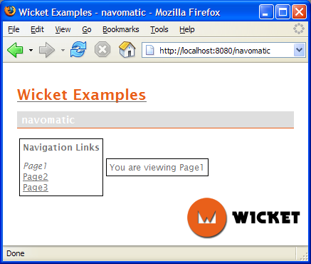 Apache Wicket full screenshot
